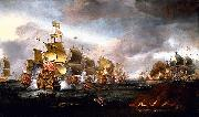 Adriaen Van Diest The Battle of Lowestoft oil painting