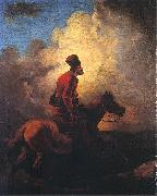 Aleksander Orlowski Don Cossack on horse oil painting