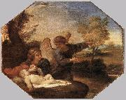 Andrea Sacchi Hagar and Ishmael in the Wilderness oil painting