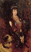 Anton Romako Portrait of Empress Elisabeth oil painting