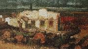 Arnold Bocklin Zerstortes Haus in Kehl oil painting reproduction