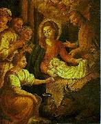 Bento Jose Rufino Capinam Birth of Christ oil painting