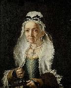 Circle of Fra Galgario Portrait of an Old Lady oil painting
