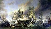 Clarkson Frederick Stanfield The Battle of Trafalgar oil painting reproduction
