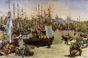 Edouard Manet Hafen von Bordeaux oil painting reproduction