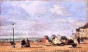 Eugene Boudin Kaiserin Eugenie am Strand von Trouville oil painting reproduction