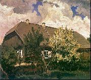 Ferdynand Ruszczyc Manor house in Bohdanew oil painting