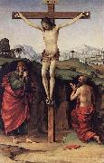 Francesco Francia Crucifixion with Sts John and Jerome oil painting
