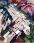 Franz Marc Gebirge oil painting reproduction