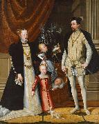 Giuseppe Arcimboldo Holy Roman Emperor Maximilian II. of Austria and his wife Infanta Maria of Spain with their children oil painting