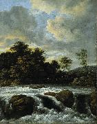 Jacob Isaacksz. van Ruisdael Landscape with Waterfall oil painting reproduction
