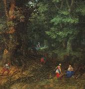 Jan Brueghel The Rest on The Flight into Egypt oil painting