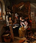 Jan Steen The Drawing Lesson oil painting reproduction
