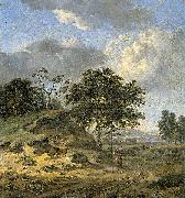 Jan Wijnants Landscape with two hunters oil painting reproduction