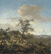 Jan Wijnants Landscape with a hunter and other figures. oil painting reproduction