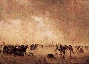 Jan van Goyen Landscape with Skaters oil painting reproduction