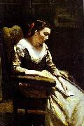 Jean-Baptiste Camille Corot The Letter oil painting reproduction