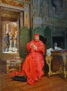 Jehan Georges Vibert The Diet oil painting reproduction