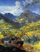 John Brett Val d'Aosta oil painting reproduction