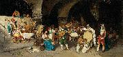 Luis Riccardo Falero Day in a tavern oil painting