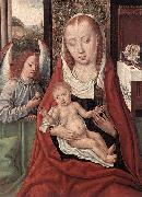 Master of the Legend of St. Lucy Virgin and Child with an Angel oil painting