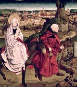 Master of the Schotten Altarpiece The Flight into Egypt, from the Schotten Altarpiece oil painting