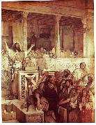 Maurycy Gottlieb Christ Preaching at Capernaum oil painting
