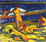 Max Pechstein Bathers oil painting reproduction