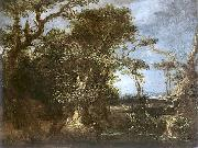 Michael Willmann Landscape with St. John. oil painting reproduction