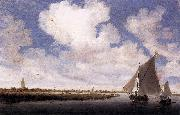 Salomon van Ruysdael Sailboats on the Wijkermeer oil painting