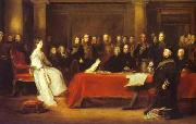 Sir David Wilkie Victoria holding a Privy Council meeting oil painting reproduction