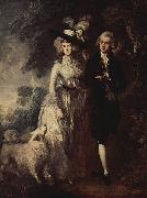Thomas Gainsborough Der Morgenspaziergang oil painting reproduction