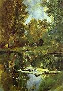Valentin Serov Pond in Abramtsevo oil painting reproduction