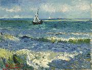 Vincent Van Gogh Zeegezicht bij Les Saintes-Maries-de-la-Mer oil painting reproduction