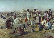 Vladimir Makovsky Market in Poltava oil painting reproduction