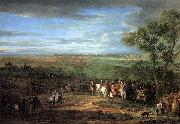 Adam Frans van der Meulen Louis XIV Arriving in the Camp in front of Maastricht oil painting