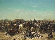 Adolf Schreyer An Ottoman encampment oil painting