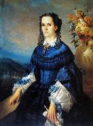 Adolfo Muller-Ury Portrait of the Baroness of Vassouras oil painting
