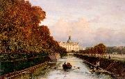 Alexey Bogolyubov View to Michael's Castle in Petersburg from Lebiazhy Canal oil painting
