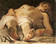Annibale Carracci The Dead Christ oil painting reproduction