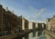 BERCKHEYDE, Gerrit Adriaensz. The Bend in the Herengracht oil painting reproduction
