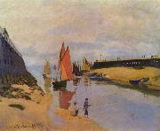 Claude Monet Hafen von Trouville oil painting reproduction