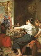 Diego Velazquez Detail of Las hilanderas oil painting reproduction