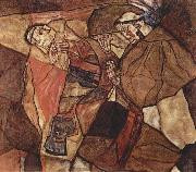 Egon Schiele The Death Struggle oil painting reproduction
