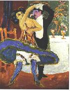 Ernst Ludwig Kirchner VarietE - English dance couple oil painting reproduction