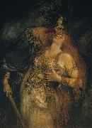 Ferdinand Leeke The Last Farewell of Wotan and Brunhilde oil painting