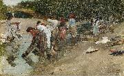 Francisco Pradilla Ortiz Galician Washerwomen oil painting
