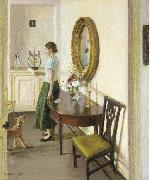 Harold Herbert The Letter oil painting reproduction