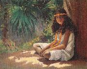 Helen Thomas Dranga Portrait of a Polynesian Girl oil painting