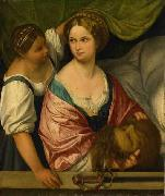 Il Pordenone Judith with the head of Holofernes. oil painting